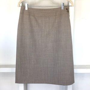 Ann Taylor Professional Tan Skirt